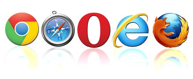 loga webových prohlížečů